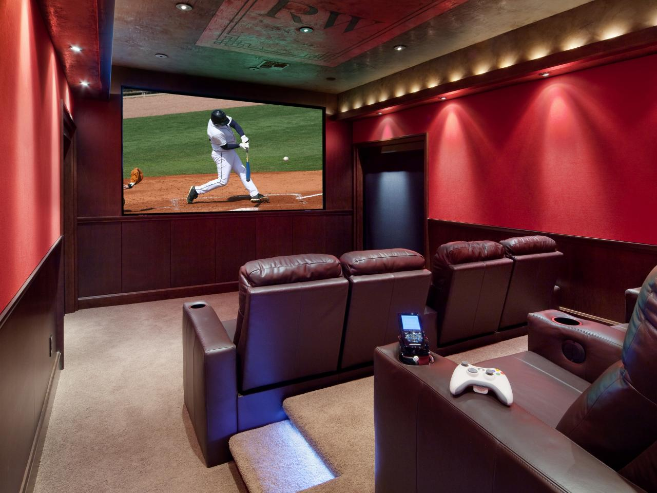 Home theater design ideas pictures tips options hgtv Interior design ideas home theater