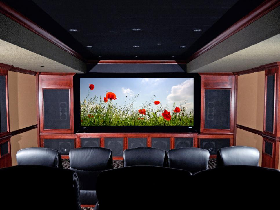 Media rooms and home theaters by budget hgtv Interior design ideas home theater