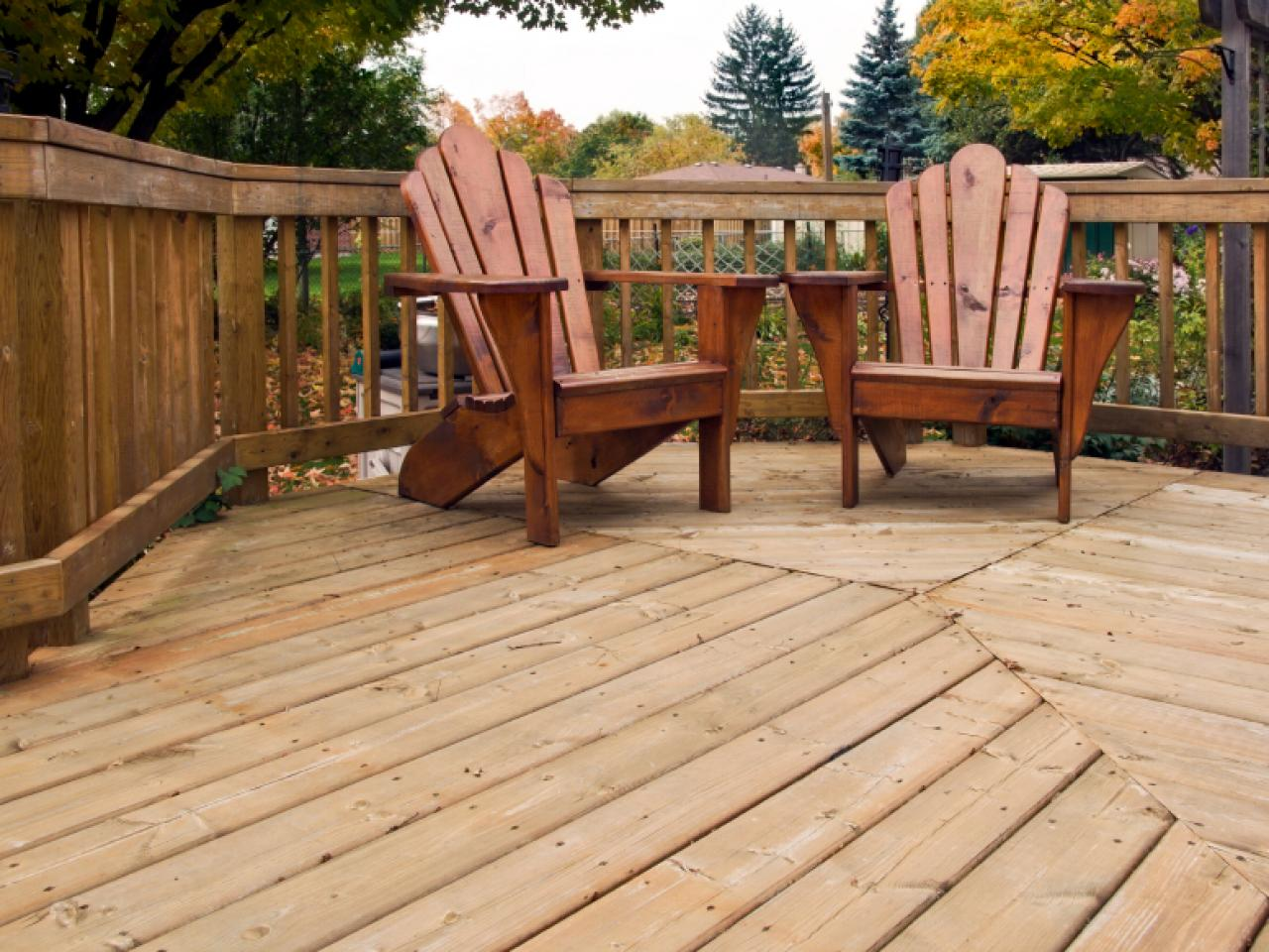 Wood decking materials hgtv for Things to consider when building a deck