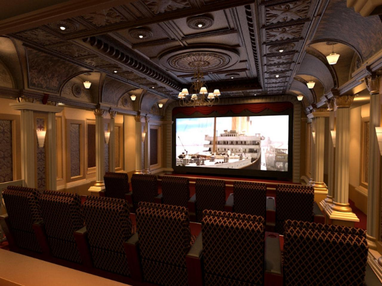 Home Theater Design Ideas lighting Amazing Home Theater Designs