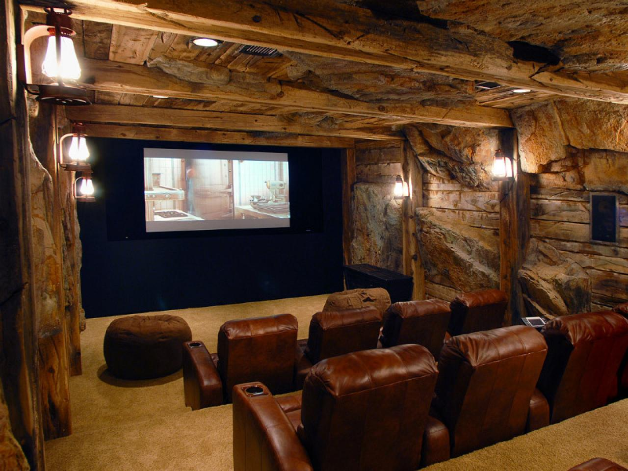 basement home theaters and media rooms pictures tips ideas hgtv. Black Bedroom Furniture Sets. Home Design Ideas