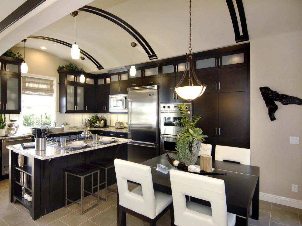 Kitchen ideas design styles and layout options hgtv for Beautiful kitchen remodels