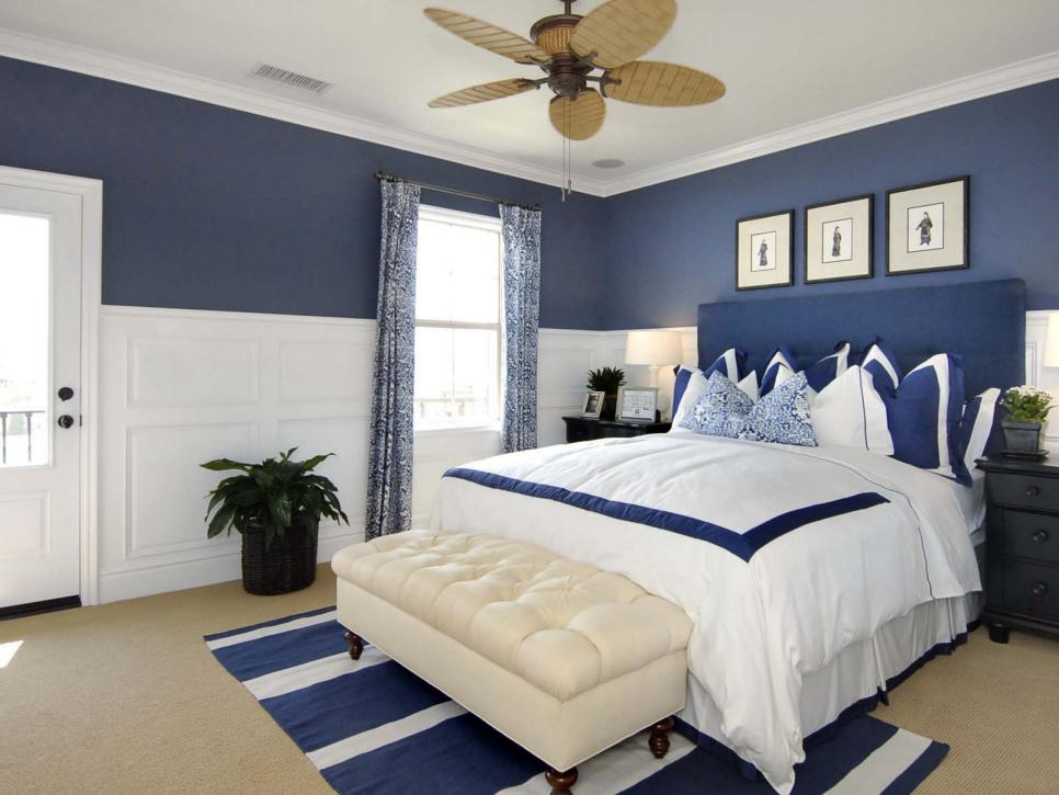 Bedroom Colors Grey Blue no-fail guest room color palettes | hgtv
