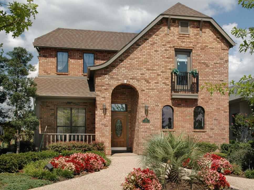 Beautiful brick homes hgtv for House outside design ideas
