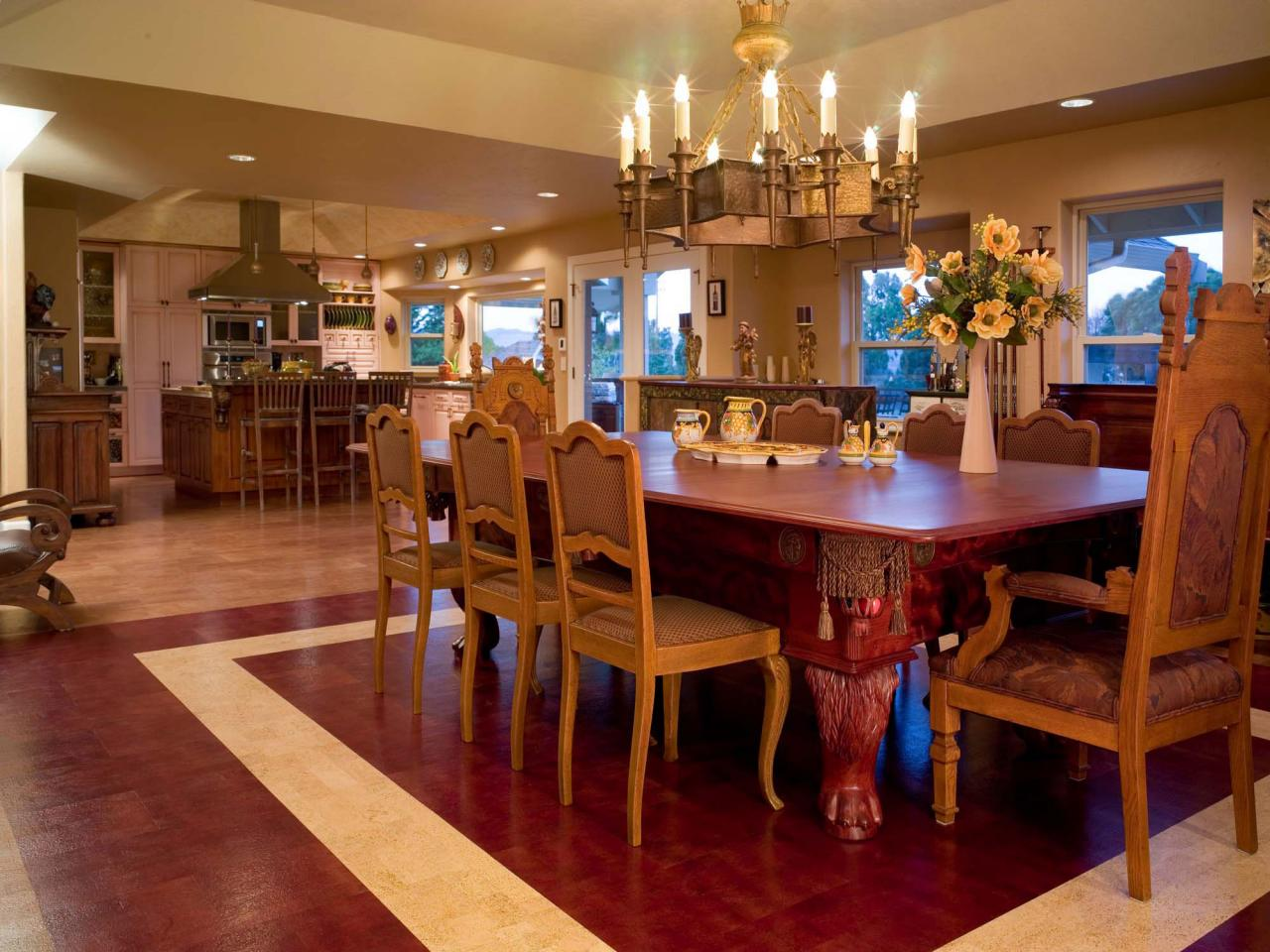 Cork flooring for your kitchen hgtv for Dining room flooring
