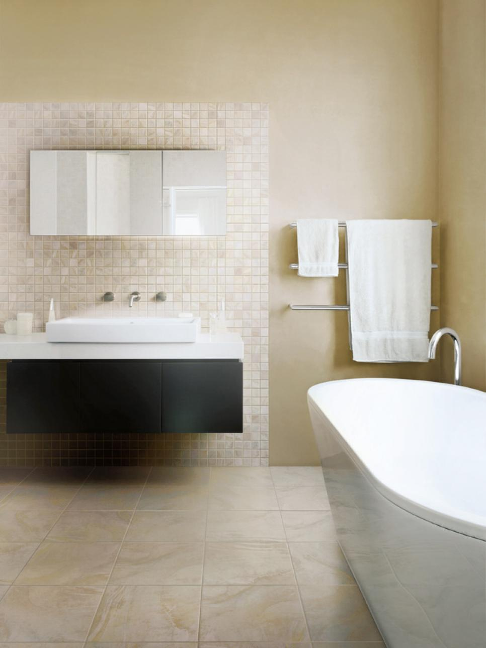 bathroom flooring styles and trends hgtv. Black Bedroom Furniture Sets. Home Design Ideas