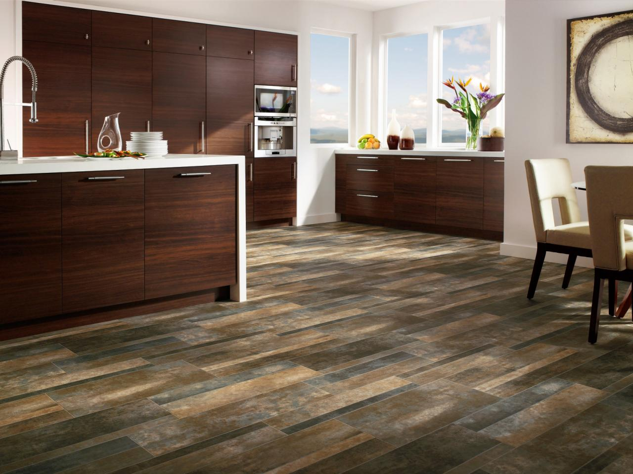 Vinyl Plank Flooring Kitchen Not Your Fathers Vinyl Floor Hgtv