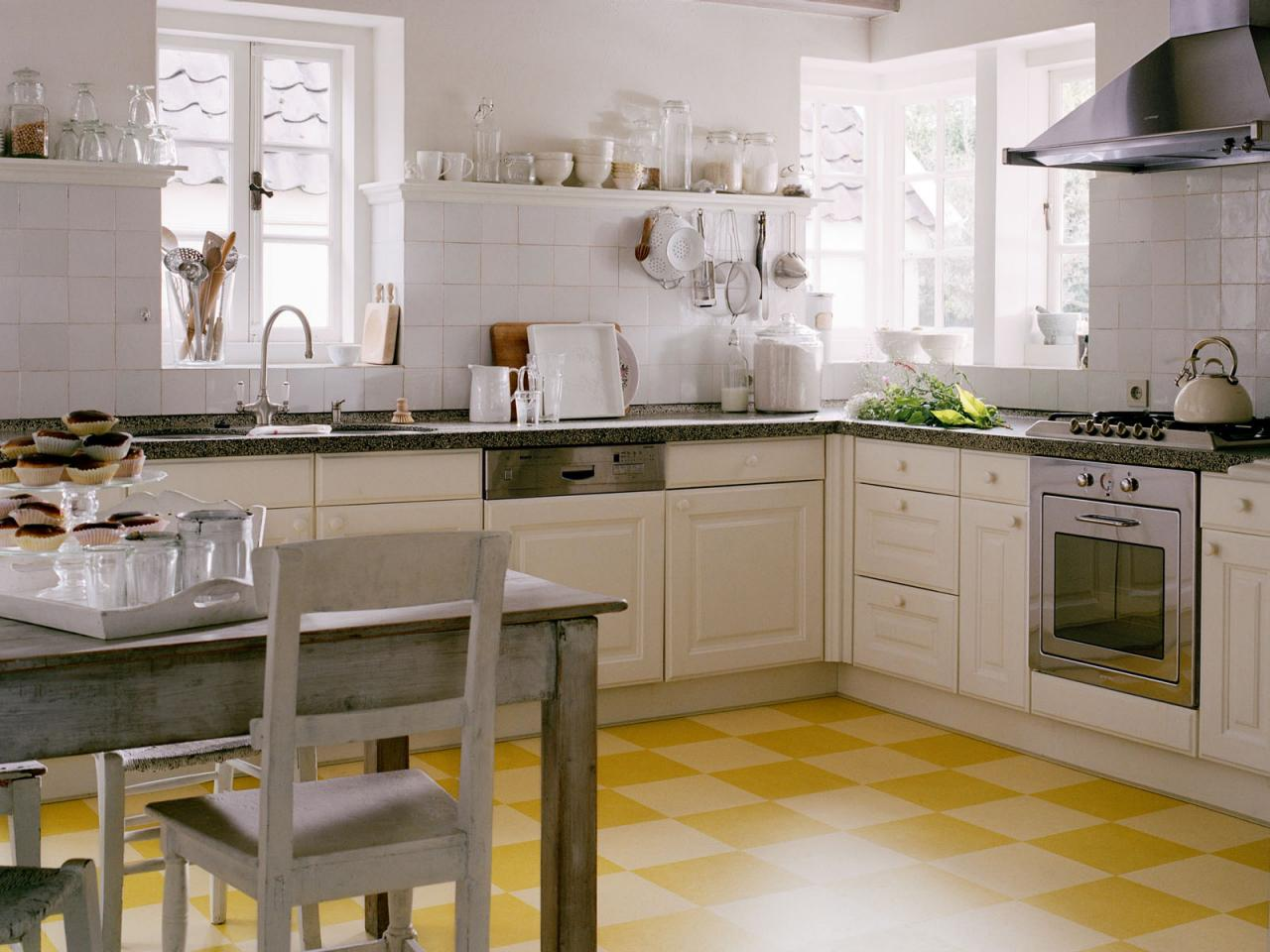 Linoleum flooring in the kitchen hgtv - Retro flooring kitchen ...