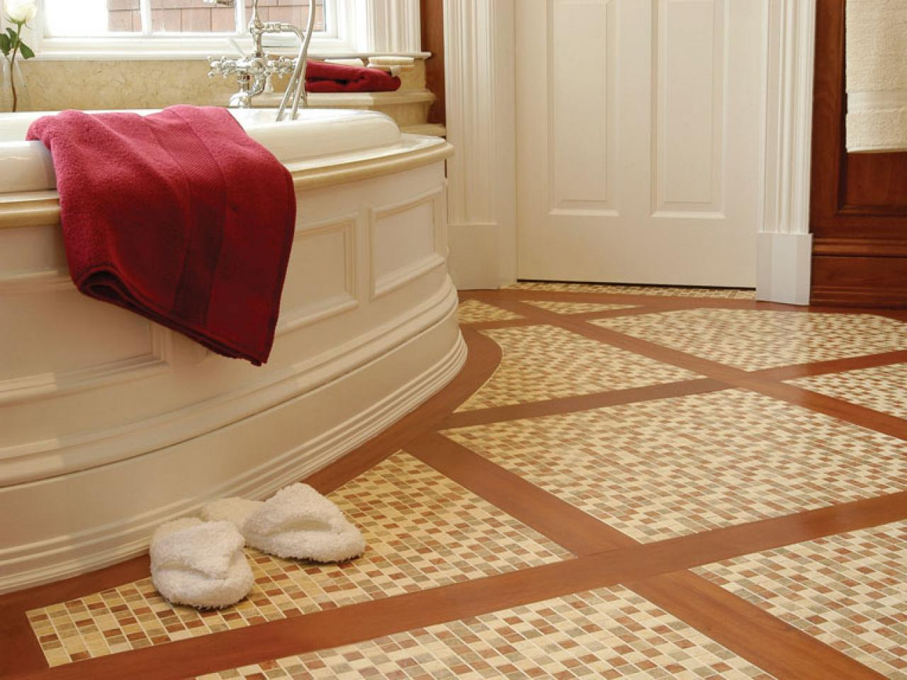 Choosing bathroom flooring hgtv for Bathroom floor tile ideas