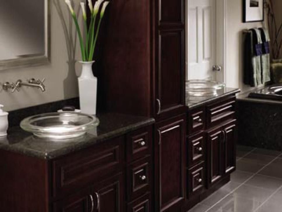 Granite bathroom countertops hgtv for Bathroom countertops