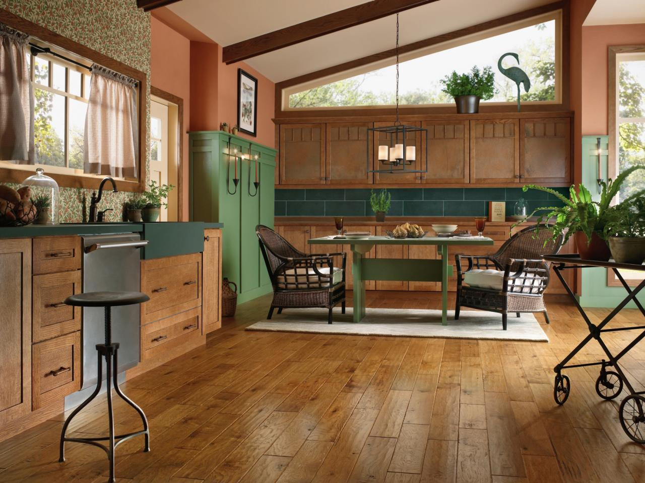 Engineered Wood Flooring Kitchen Hardwood Flooring In The Kitchen Hgtv