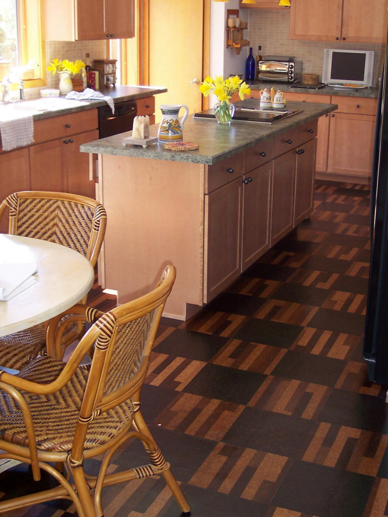 Is Bamboo Flooring Good For Kitchens Cork Flooring For Your Kitchen Hgtv