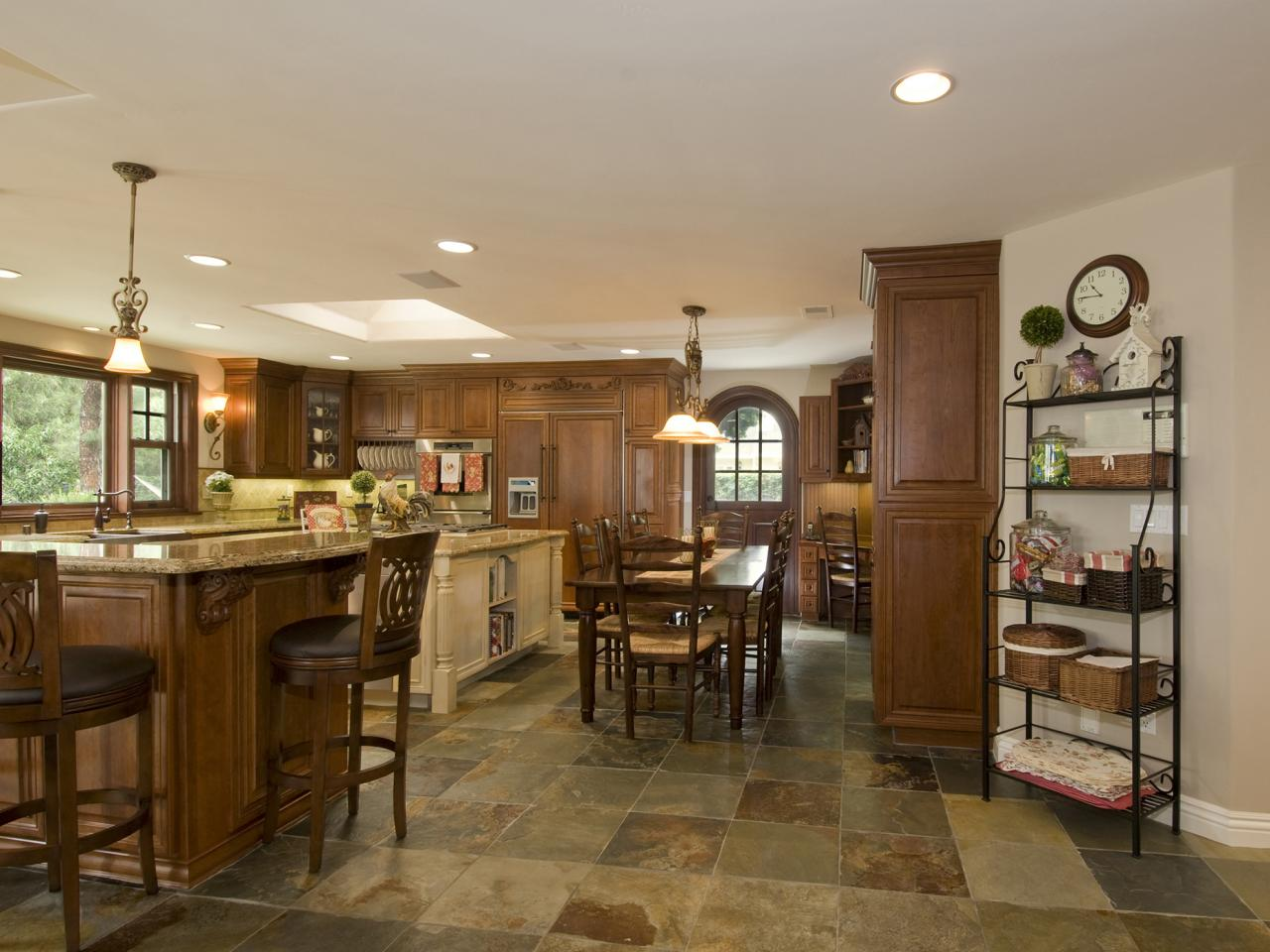 Kitchen floor buying guide hgtv practical ceramic tile flooring dailygadgetfo Image collections