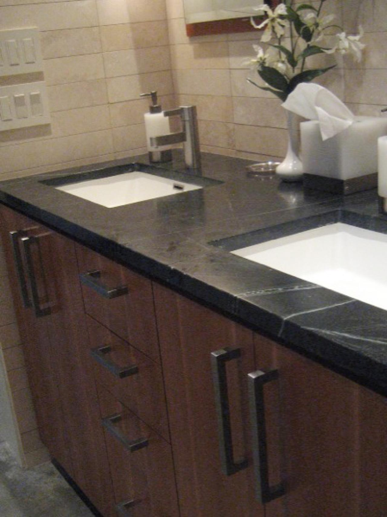 Bathroom countertop buying guide hgtv for Bathroom countertops