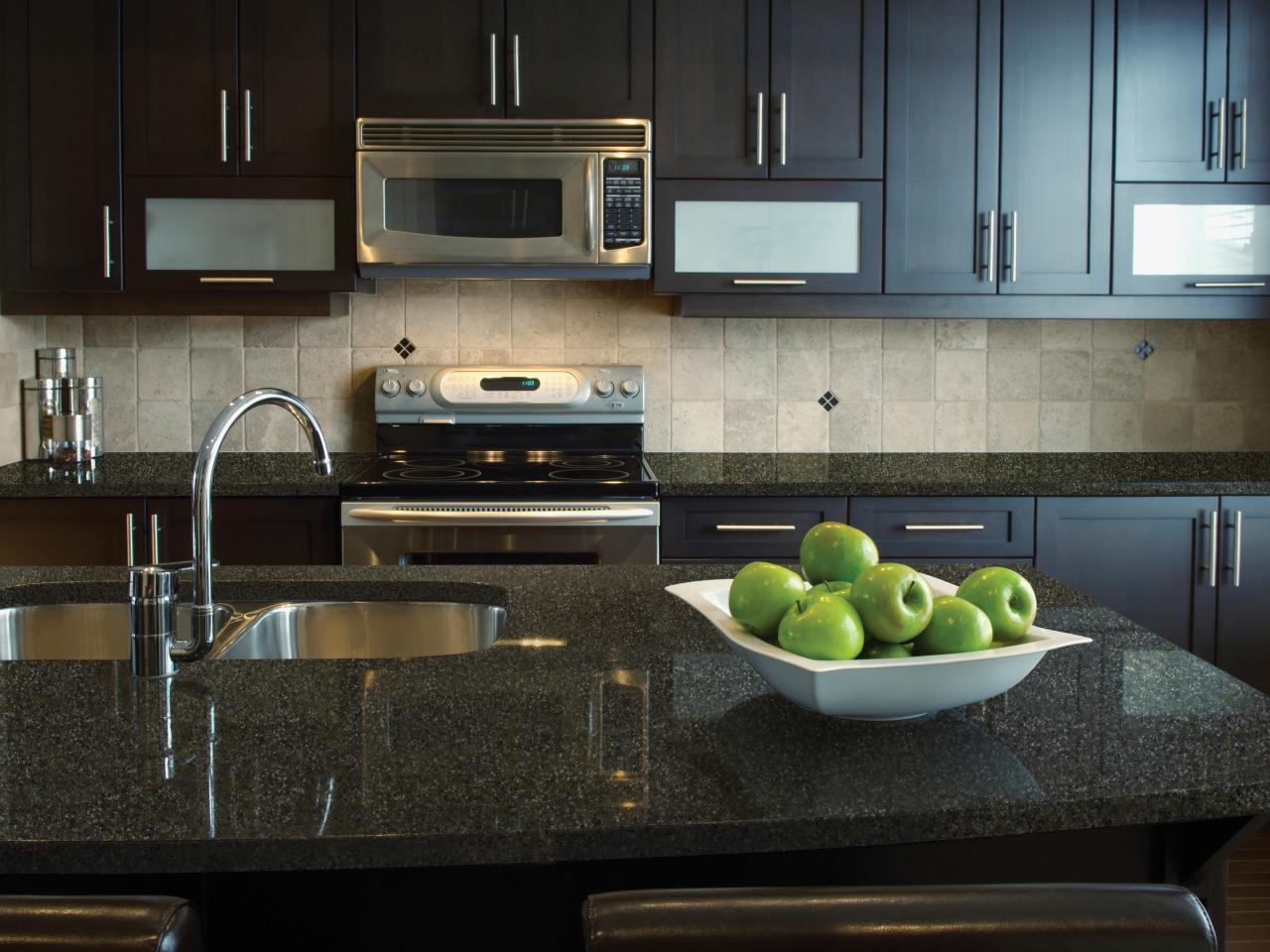 solid surface kitchen countertop hgtv. Black Bedroom Furniture Sets. Home Design Ideas