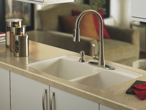 Countertop Kitchen Sink : Laminate Kitchen Countertop HGTV