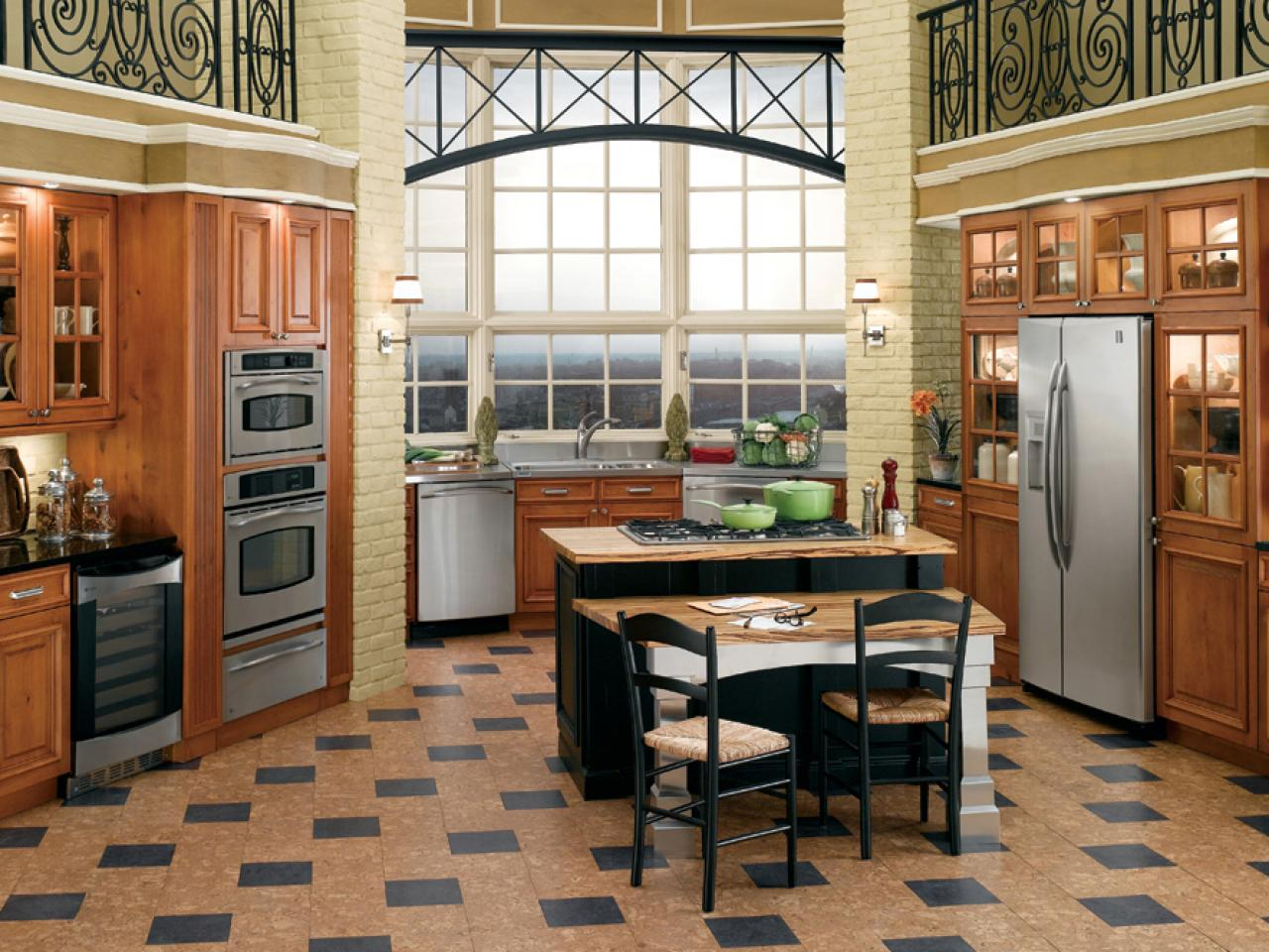 Checkerboard Kitchen Floor Cork Flooring For Your Kitchen Hgtv