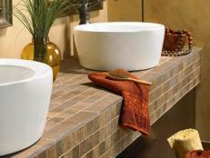 Tile Bathroom Countertops 5 Photos