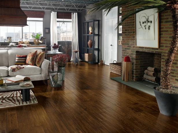 Top living room flooring options hgtv for Wood flooring choices