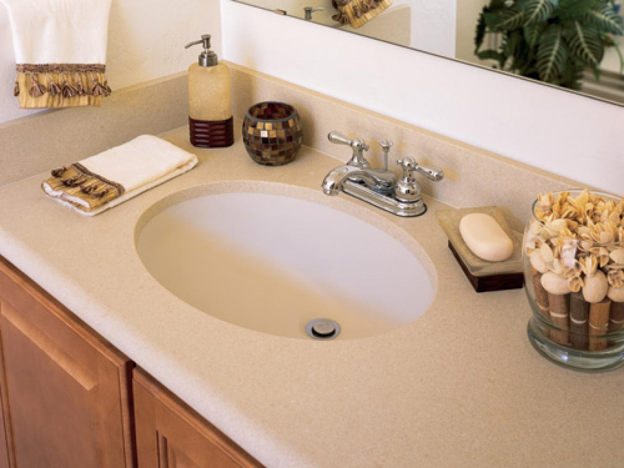 Bathroom Countertop Surface Options : Solid Surface Countertops HGTV