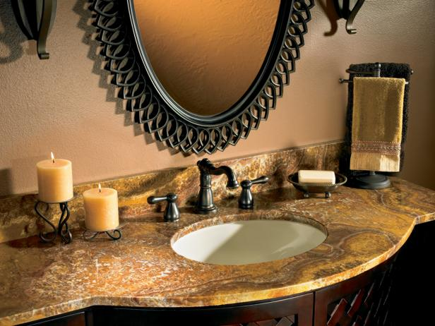 granite bathroom countertops hgtv - Granite Bathroom Designs