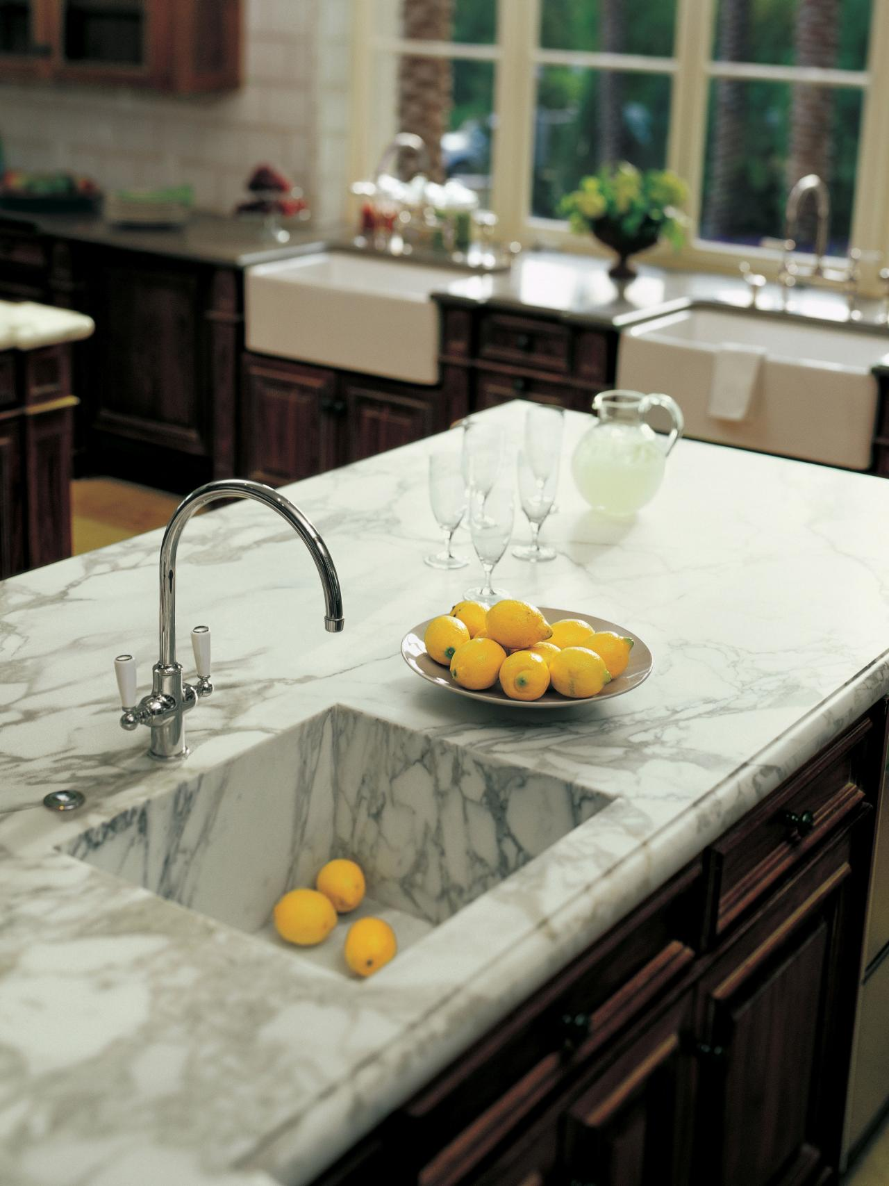 Marble kitchen countertop hgtv for Kitchen countertops