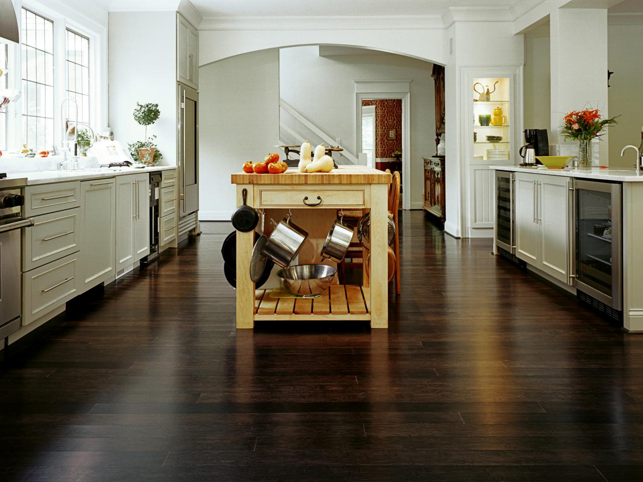 Dark Laminate Flooring In Kitchen Bamboo Flooring For The Kitchen Hgtv