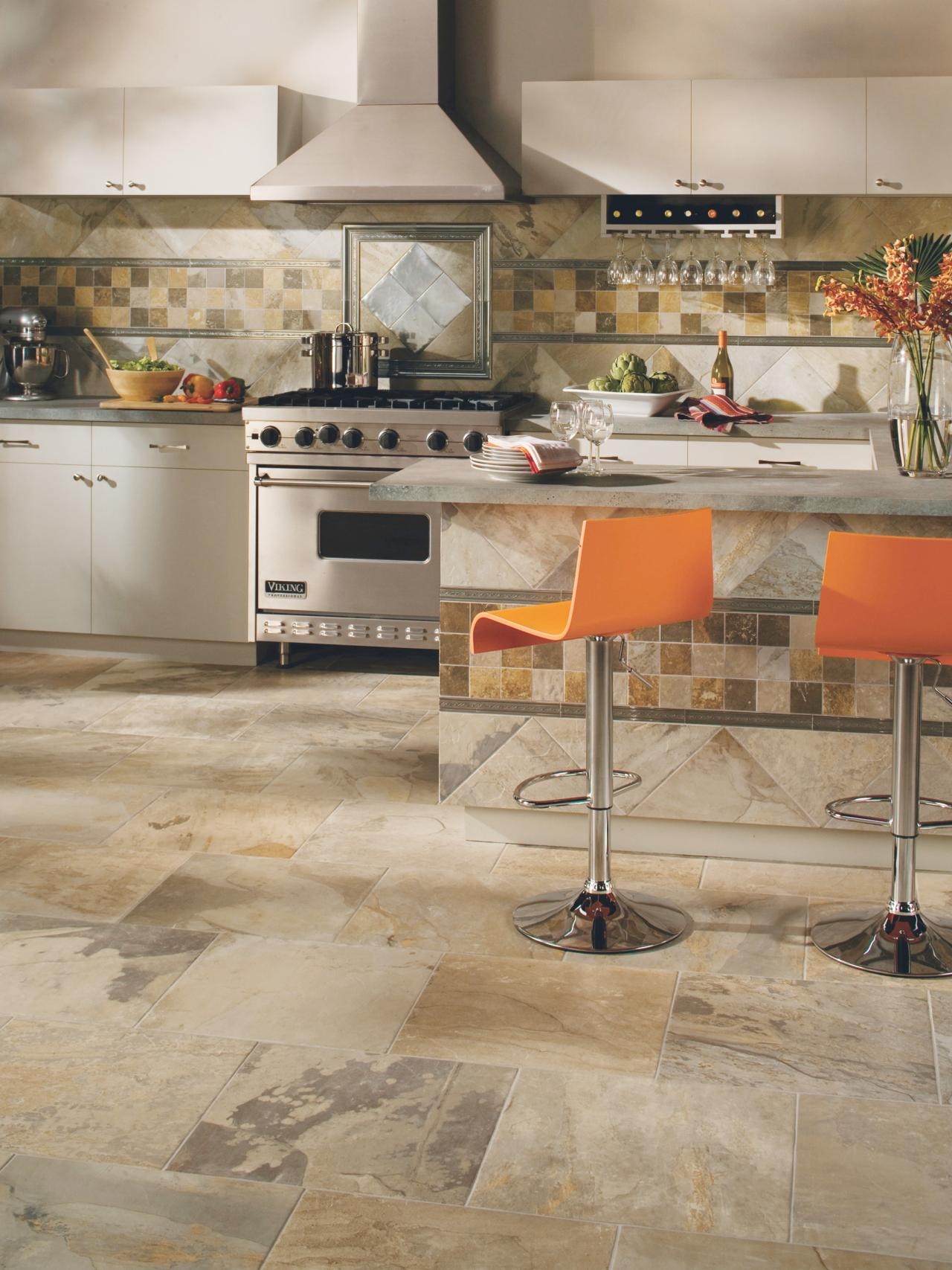 low maintenance beauty distinctive and beautiful tile floors - Kitchen Tile Flooring Ideas