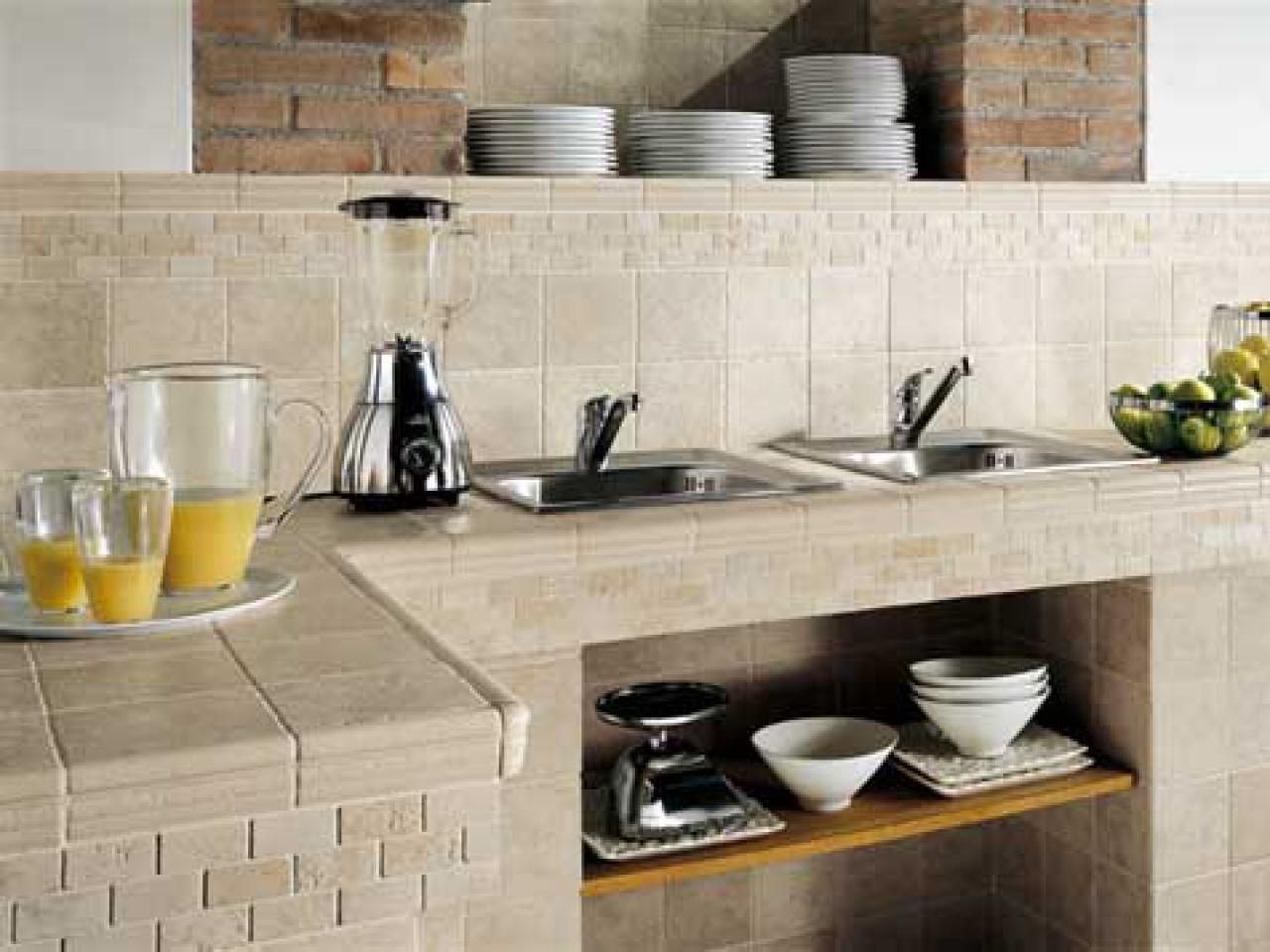 Tile kitchen countertops pictures ideas from hgtv hgtv for Kitchen countertops