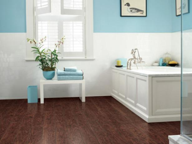 Laminate flooring ideas designs hgtv Bathroom ideas wooden floor