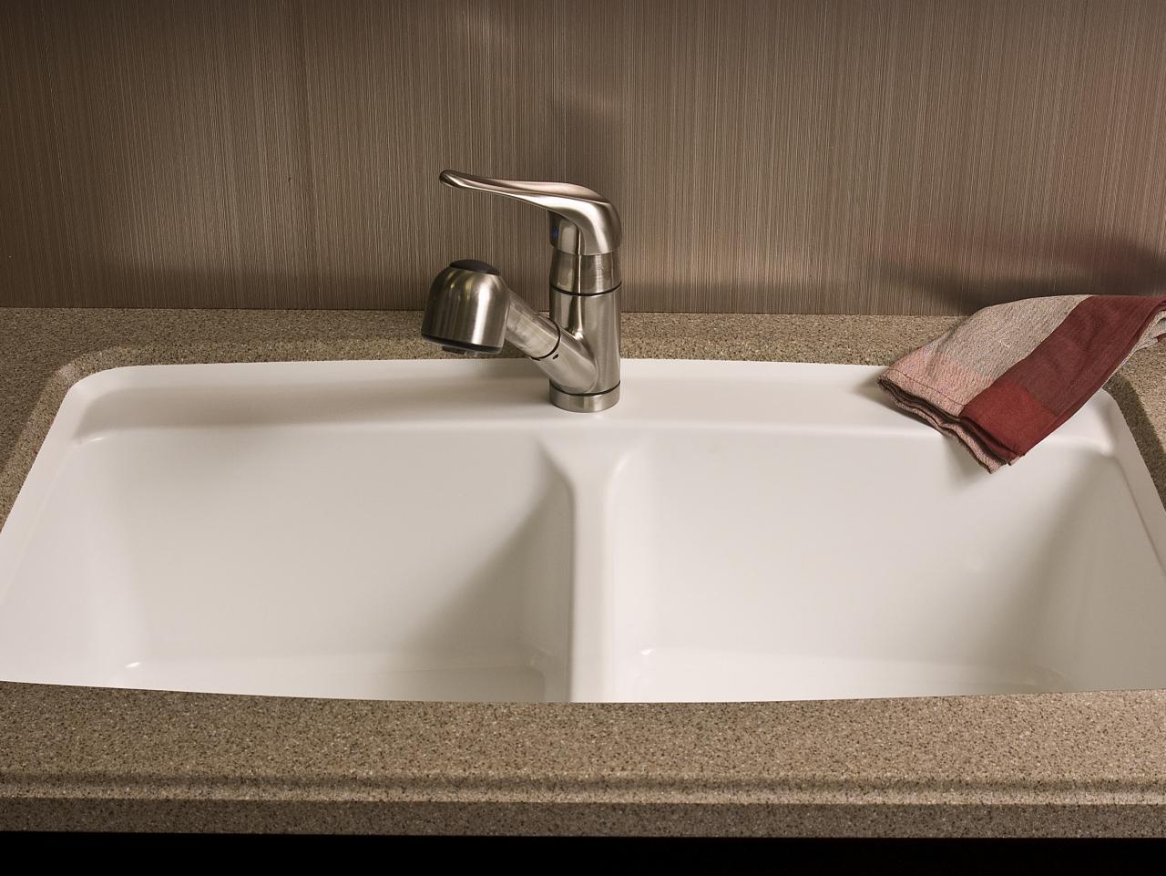 Countertop Kitchen Sink : Solid-Surface Kitchen Countertop HGTV
