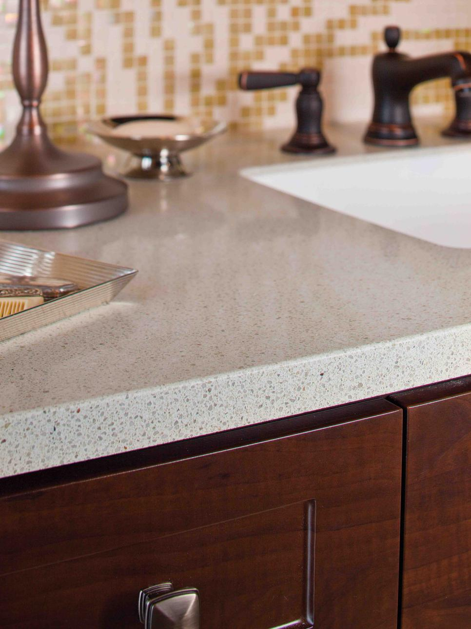 Granite bathroom countertops hgtv for 3 4 inch granite countertops
