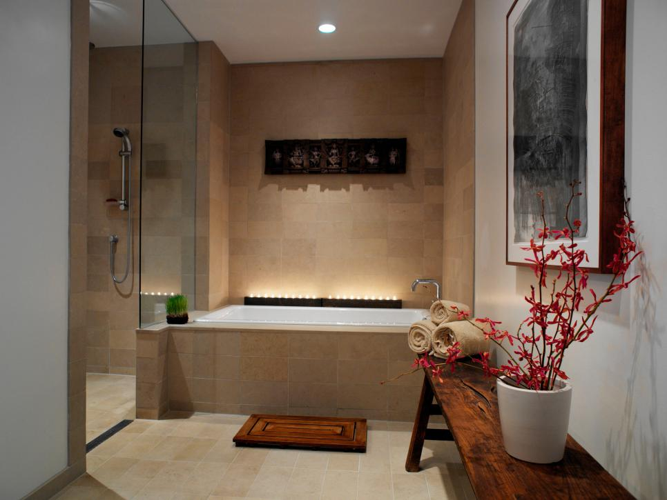 Spa inspired master bathrooms hgtv for Look 4 design salon