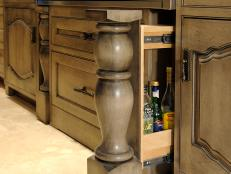 Dave Stimmel Designed Drawer Behind Cabinet Leg