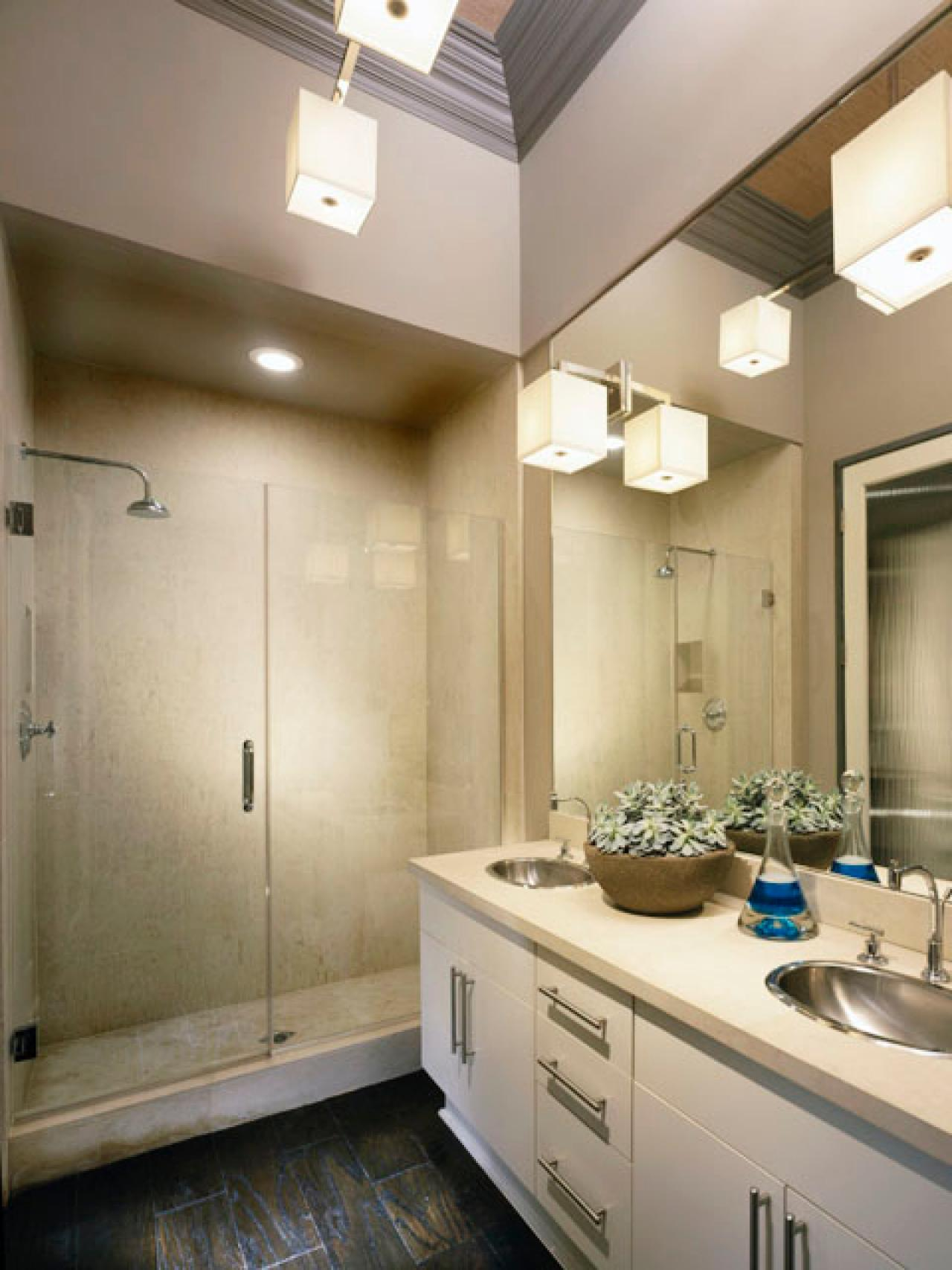 Bathroom design ideas: choose walls, ceiling, layout - 70 photos 90