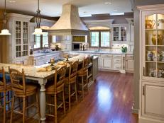 French Country Kitchen With Large Breakfast Bar