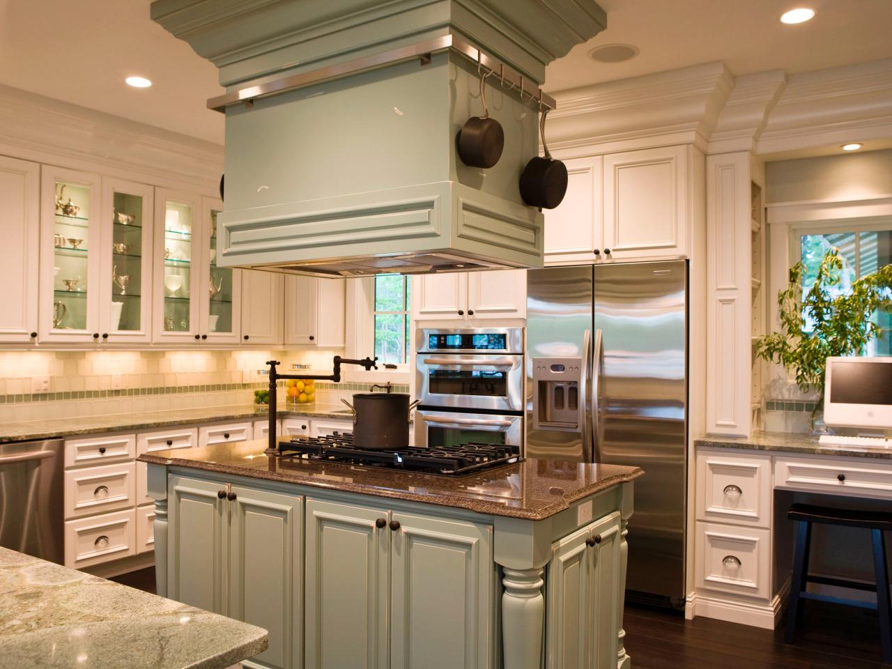 Creating a gourmet kitchen hgtv - Kitchen island color ideas ...