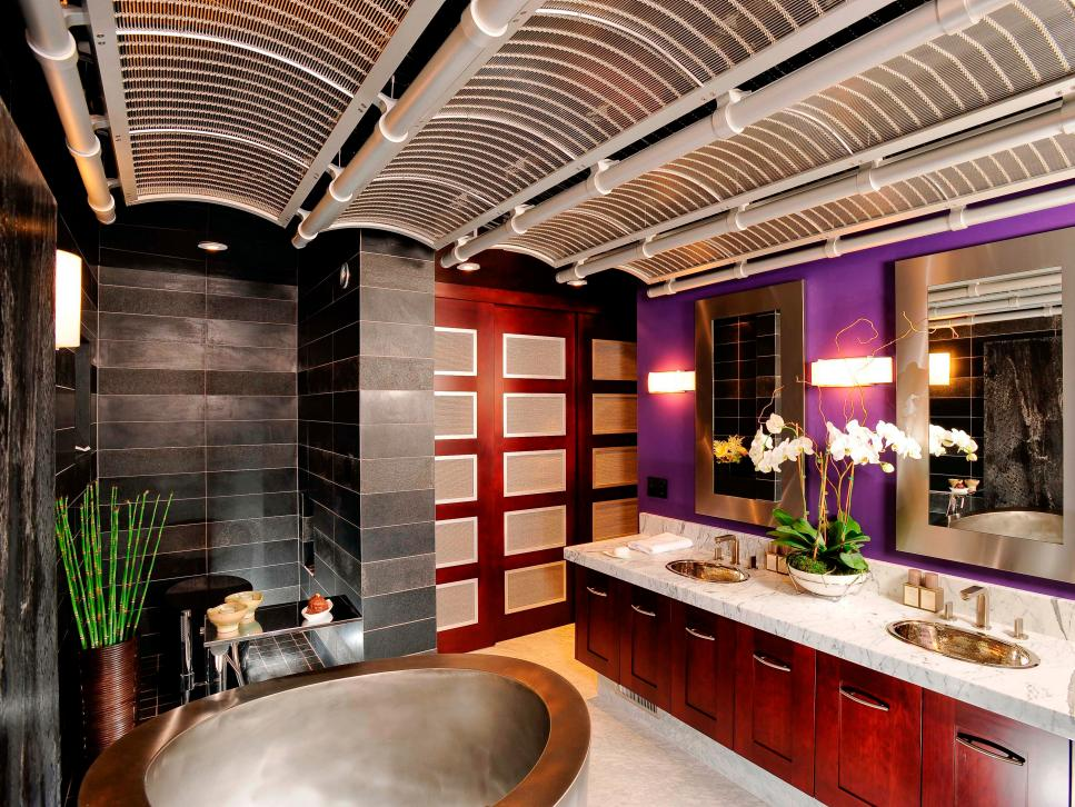 Asian style bathrooms hgtv for Asian small bathroom design