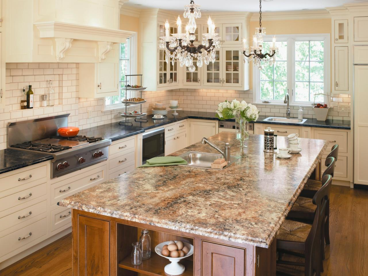 Kitchen countertop buying guide hgtv for Kitchen countertops