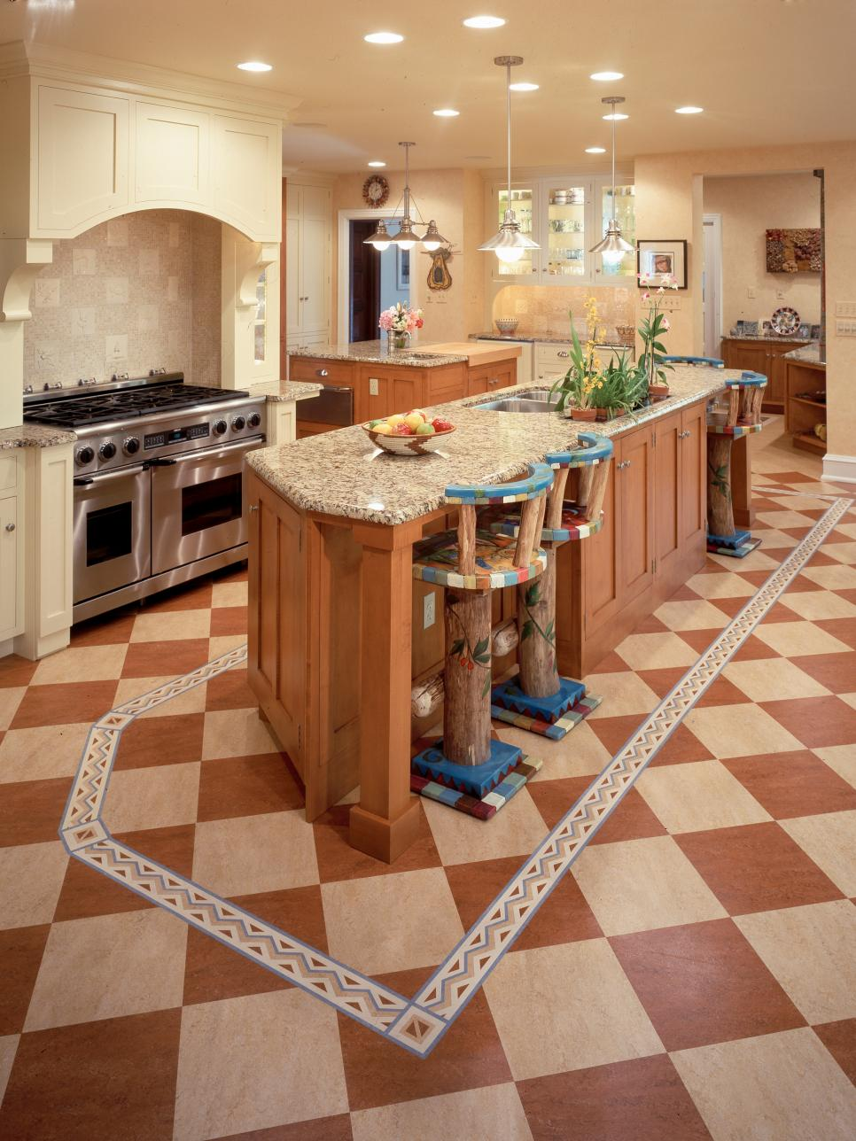 Linoleum Floor Kitchen Cheap Versus Steep Kitchen Flooring Hgtv