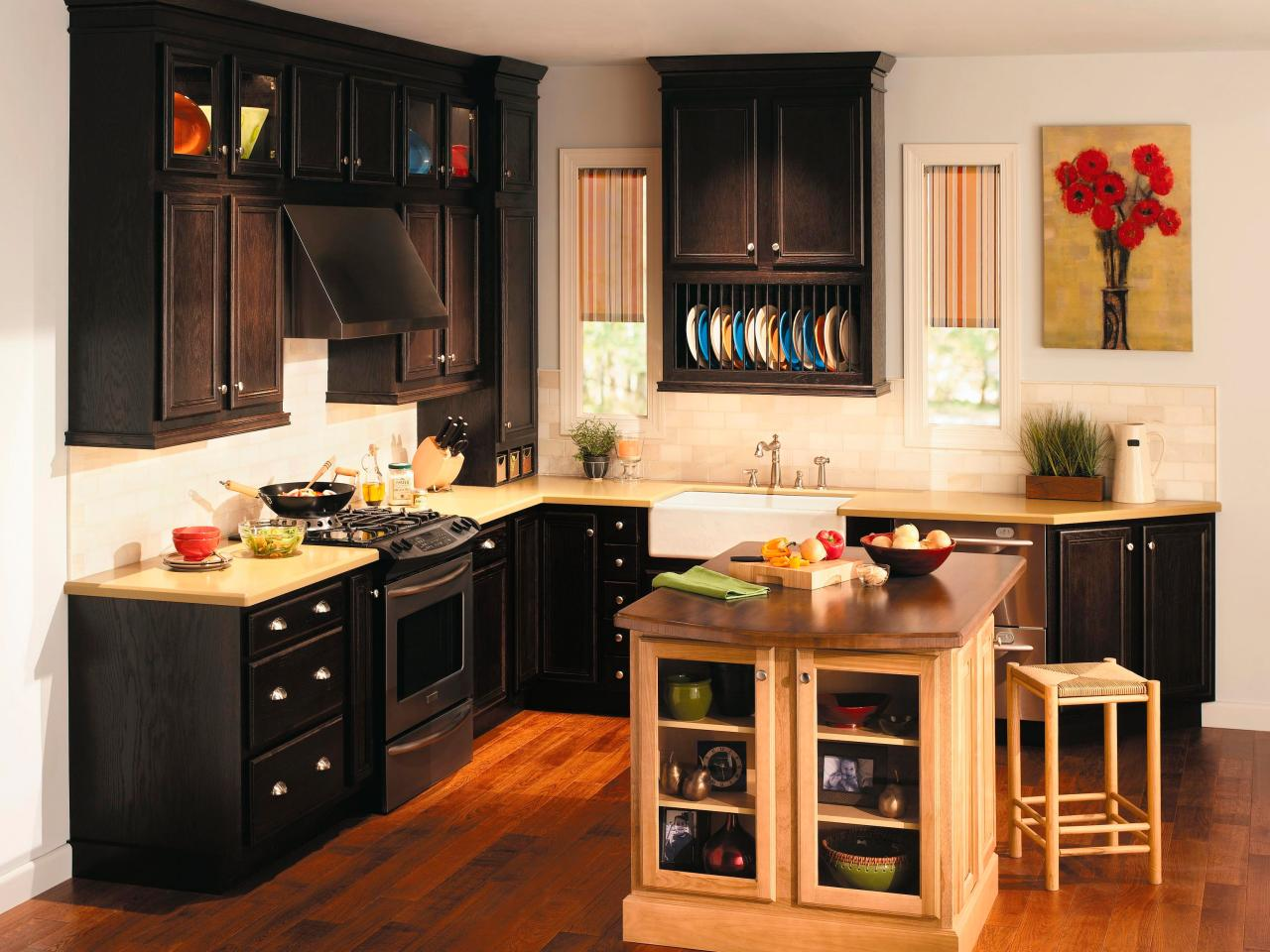 Best Small Kitchen Designs wood kitchen cabinets: pictures, options, tips & ideas | hgtv