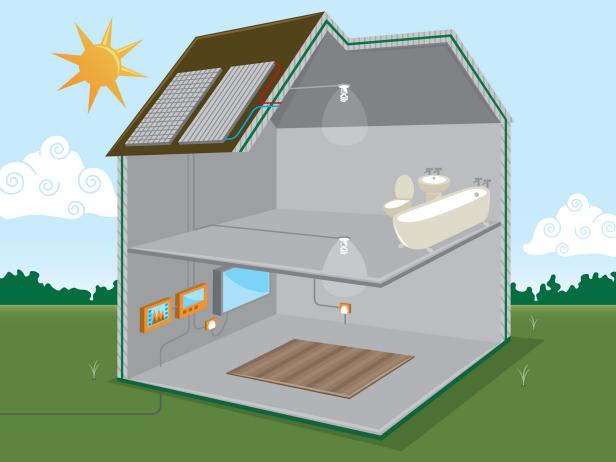 Solar Power Illustration