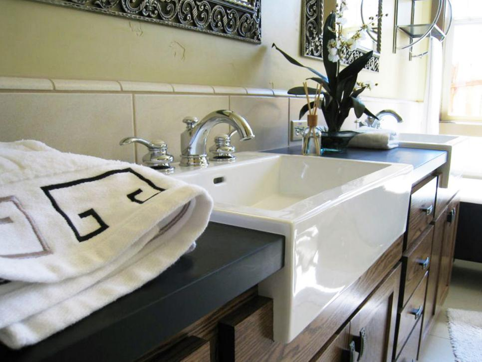 Bathroom Countertop Surface Options : Composite Bathroom Countertops HGTV