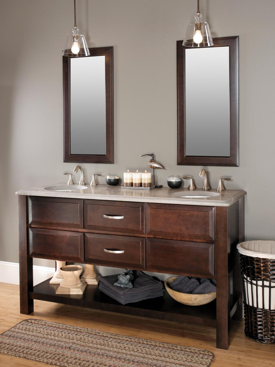 Bathroom cabinet styles and trends hgtv for Latest bathroom sinks