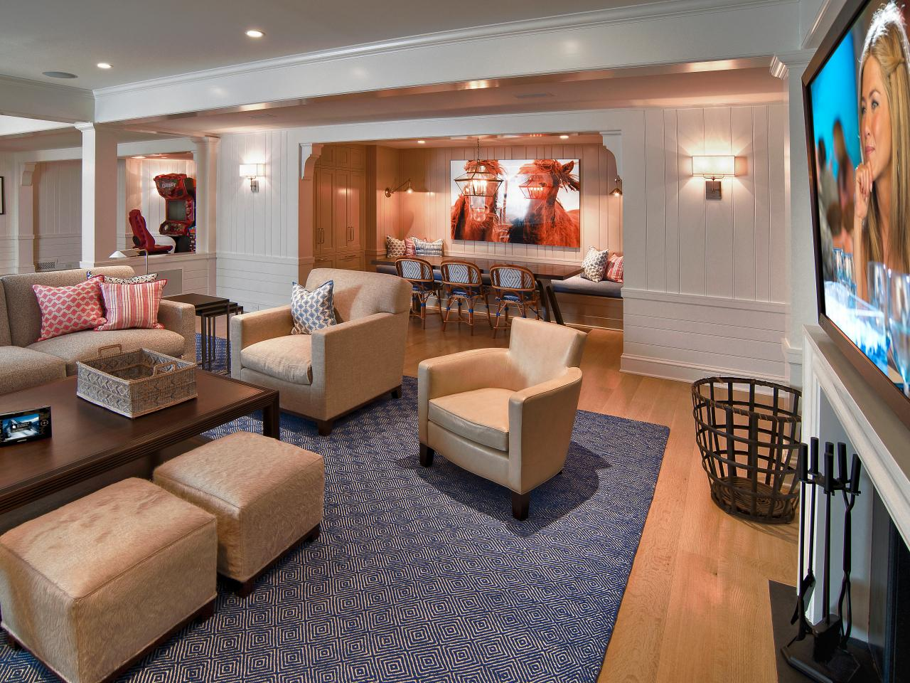 Basement Family Room Design Ideas Basement Design And Layout  Hgtv