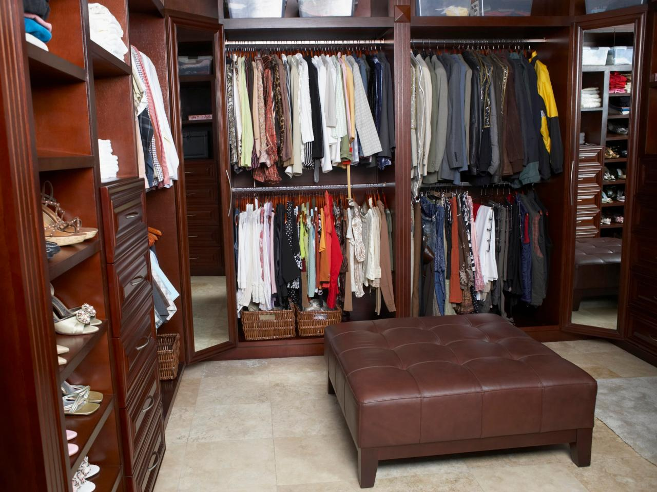 Walk In Closet Designs For A Master Bedroom Interesting Walkin Closet Design Ideas  Hgtv Decorating Design