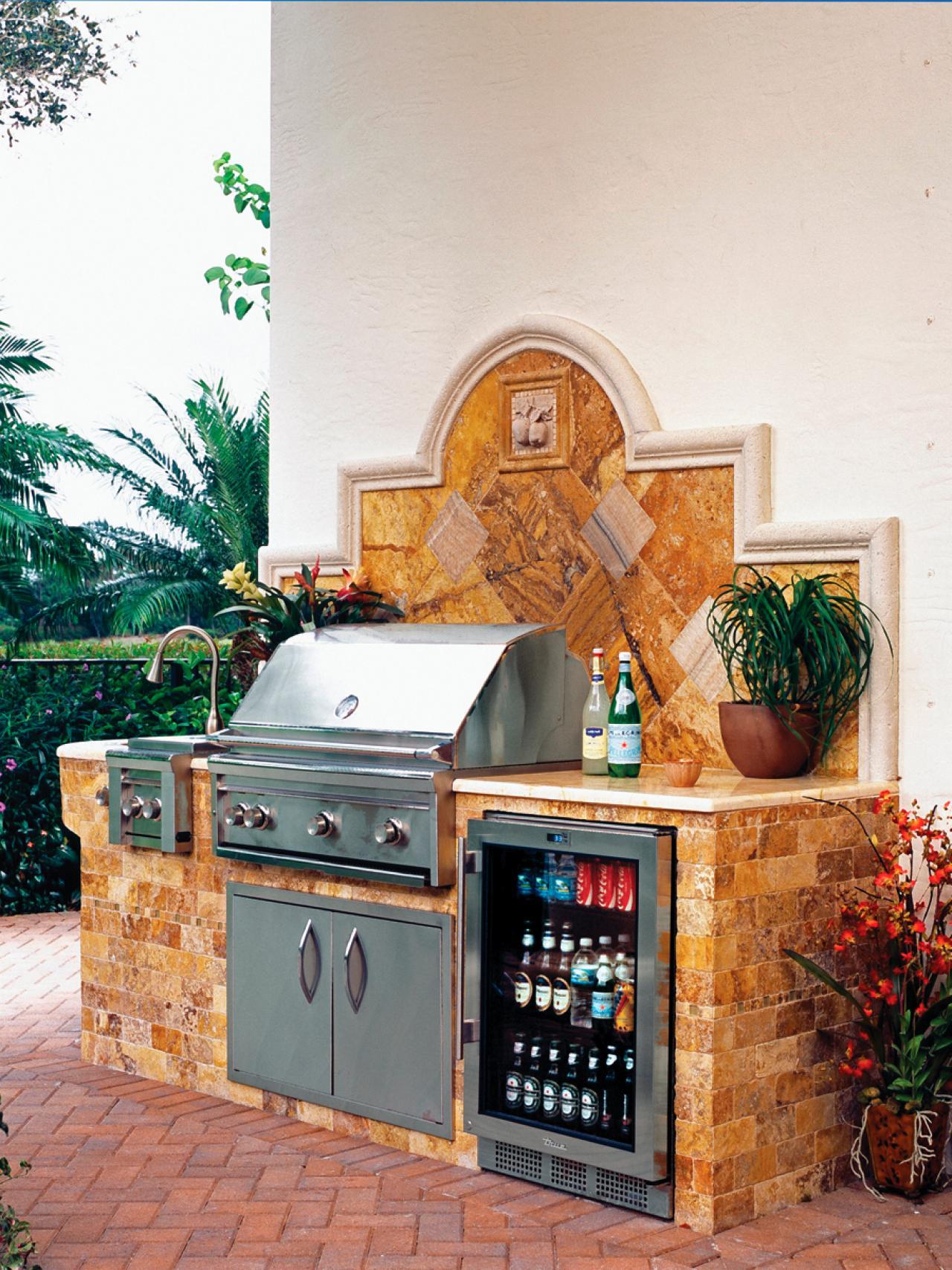 [Outdoor Kitchen Ideas Designs Network Cooking Storage Camp] stone outdoor kitchen cabinets