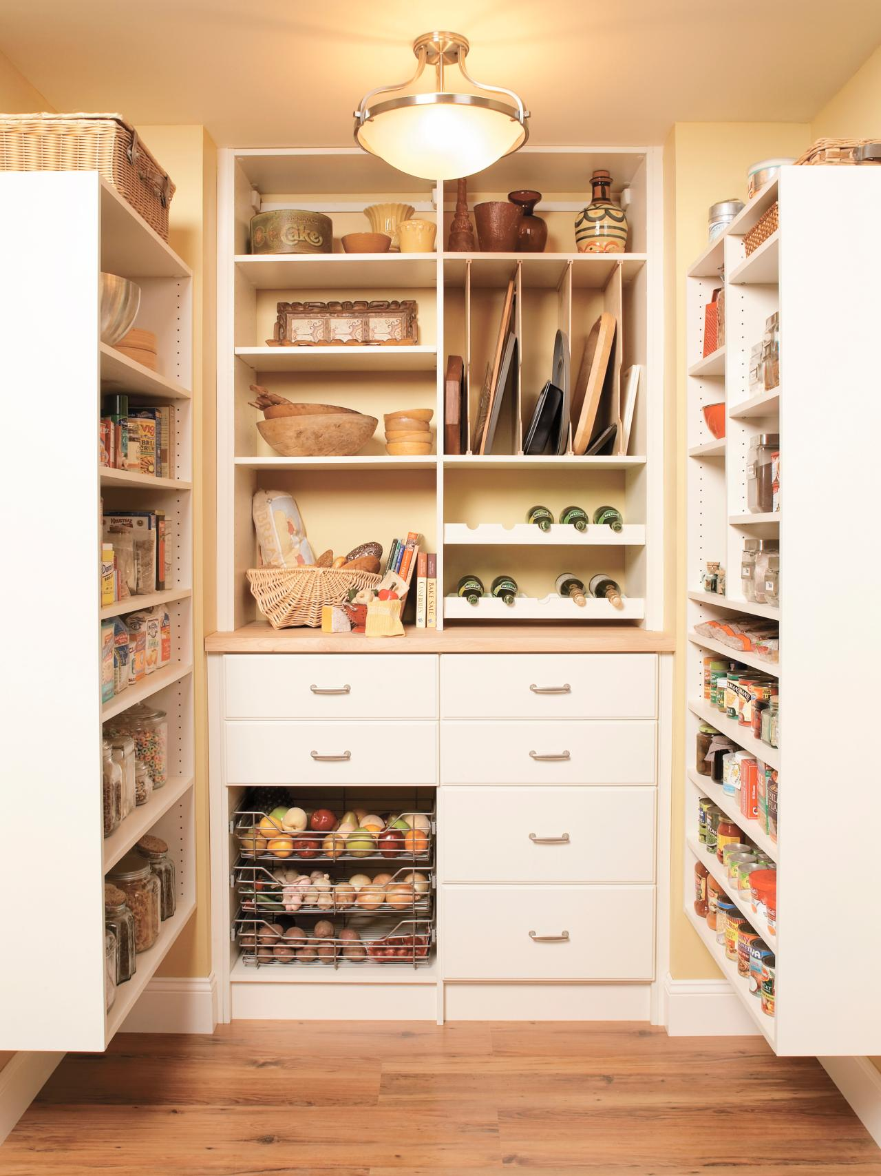 Pullout pantry shelving solutions hgtv for Kitchen closet