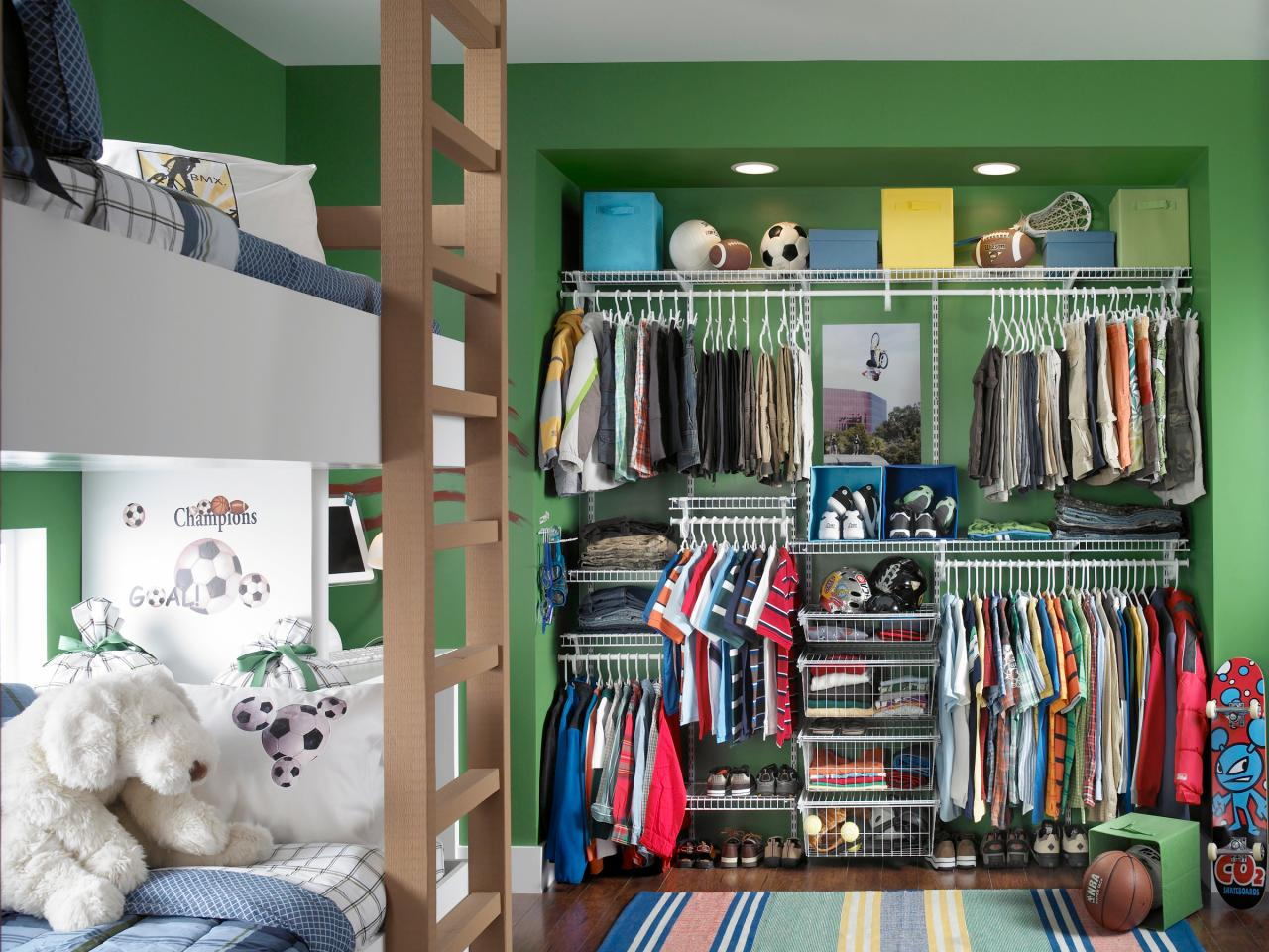 Kids 39 closets clothing and toy storage for boys and girls for Kids room closet ideas
