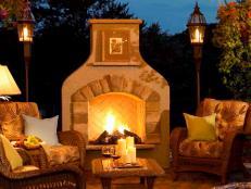 Outdoor Fireplace Ideas - Design Ideas for Outdoor Fireplaces | HGTV